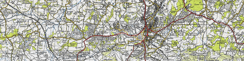 Old map of Toad Rock in 1946