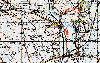 Old map of Denstone in 1946
