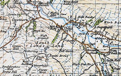 Old map of Whernside Manor in 1947