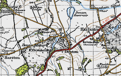 Old map of Denton in 1946