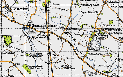 Old map of Fanny Barks (Fox Covert) in 1947