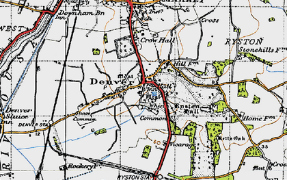 Old map of Whin Common in 1946