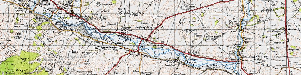 Old map of Yarnbury Castle in 1940