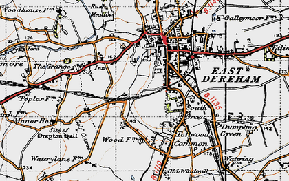 Old map of Dereham in 1946