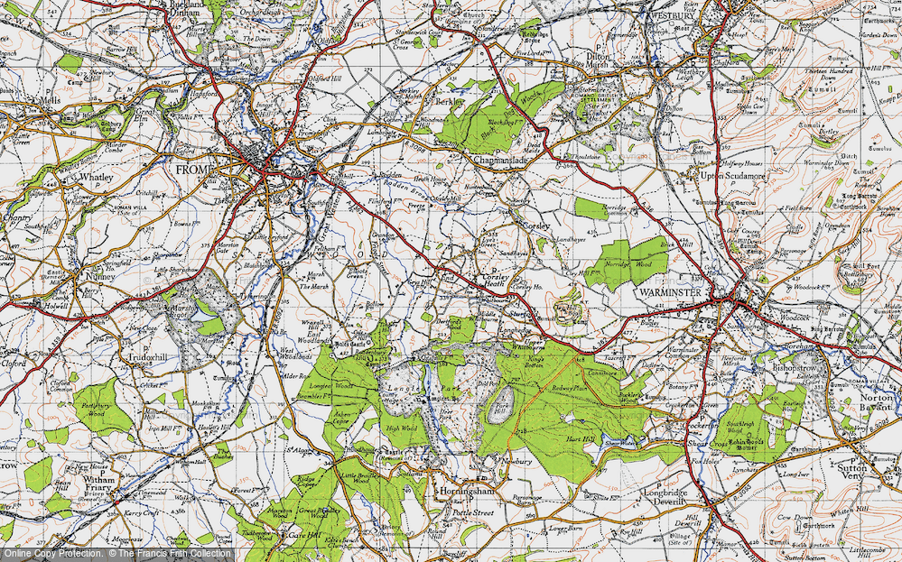 Old Map of Historic Map covering Timbers Hill in 1946