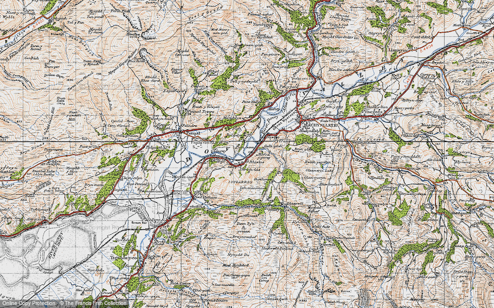 Old Map of Derwenlas, 1947 in 1947