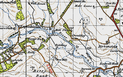 Old map of Winnowshill in 1947
