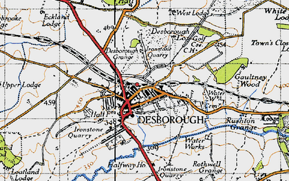 Old map of Desborough in 1946