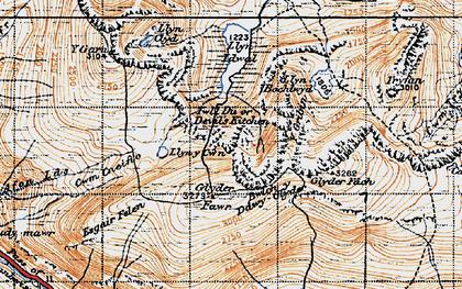 Old map of Y Gribin in 1947