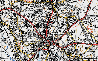Old map of Dewsbury in 1947