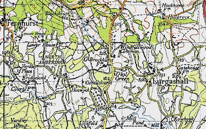 Old map of Windfallwood Common in 1940
