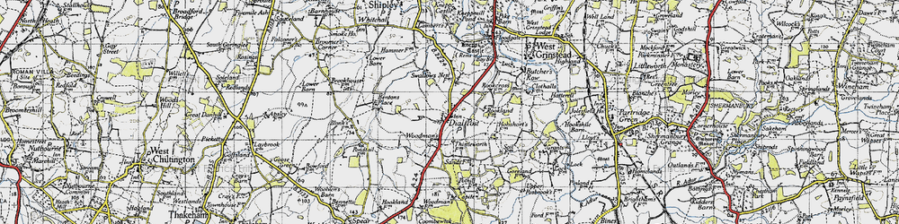 Old map of Woodmans Stud in 1940