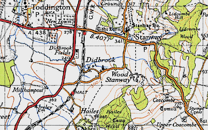 Old map of Didbrook in 1946