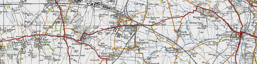 Old map of Didcot in 1947