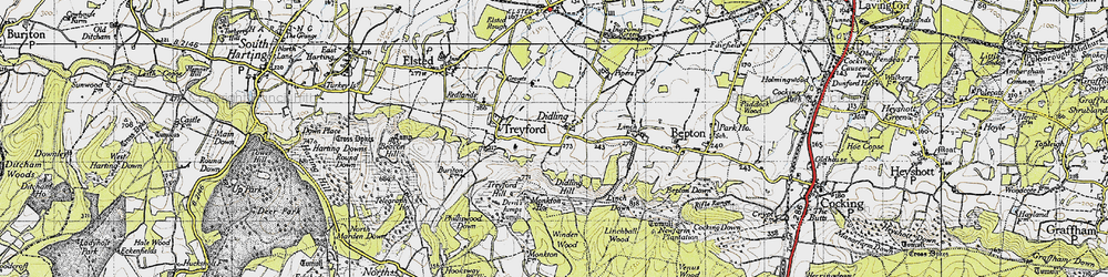 Old map of Winden Wood in 1945