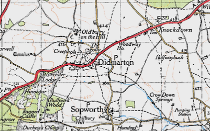 Old map of Didmarton in 1946
