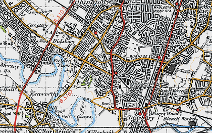 Old map of Didsbury in 1947