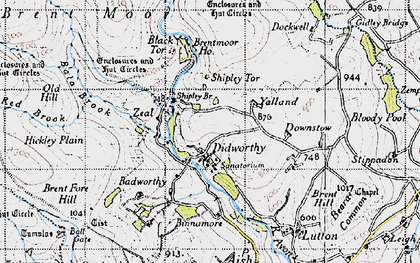 Old map of Avon Dam Reservoir in 1946
