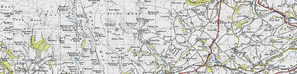 Old map of Woolholes in 1946