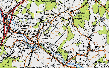 Old map of Digswell in 1946
