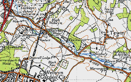 Old map of Digswell Water in 1946
