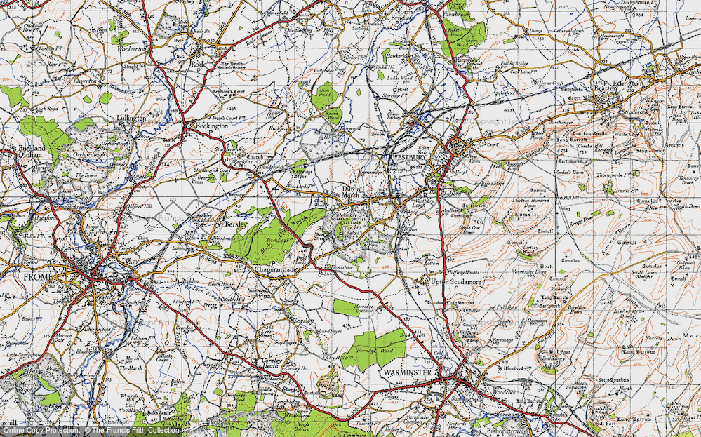 Old Map of Dilton Marsh, 1946 in 1946