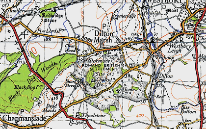 Old map of Dilton Marsh in 1946