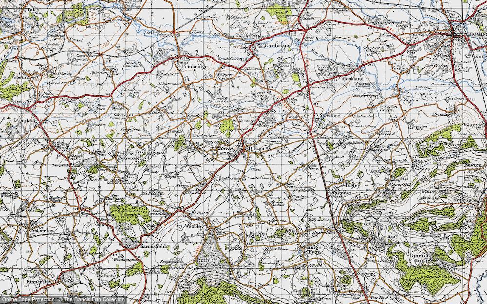 Old Map of Dilwyn, 1947 in 1947