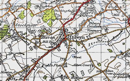 Old map of Dilwyn in 1947