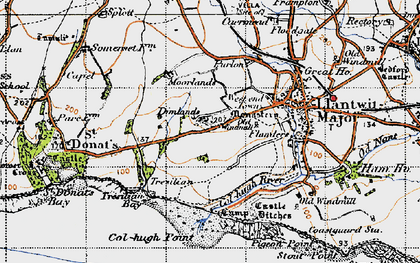Old map of Tir Abad in 1947