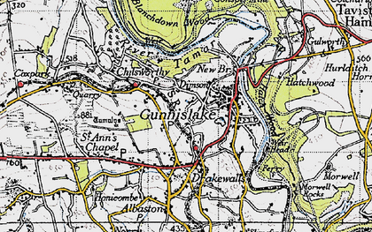 Old map of Dimson in 1946