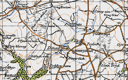 Old map of Afon Cynin in 1946