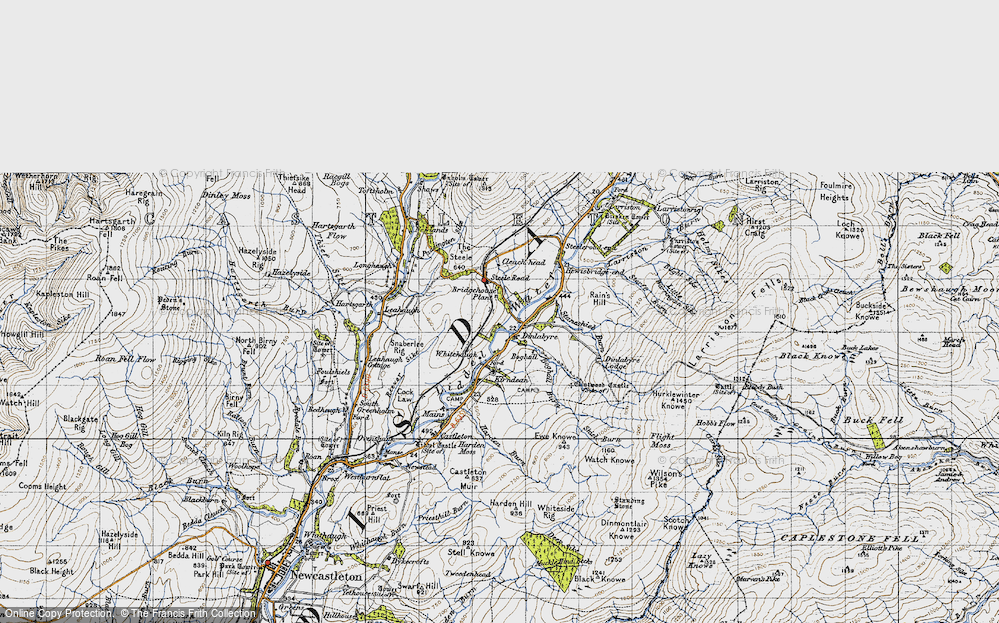 Old Map of Historic Map covering Leahaugh in 1947