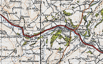 Old map of Dinmael in 1947