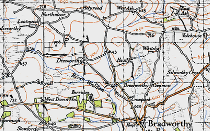Old map of Whitely in 1946