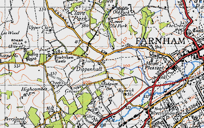 Old map of Willey Place in 1940
