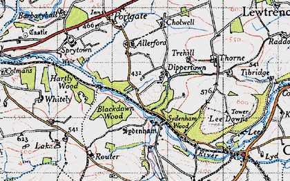 Old map of Barbaryball in 1946