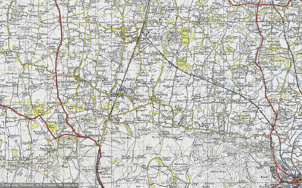 Old Map of Ditchling, 1940 in 1940