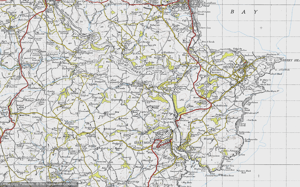 Old Map of Historic Map covering Lapthorne in 1946