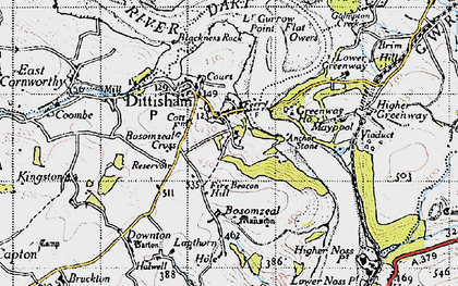 Old map of Lapthorne in 1946