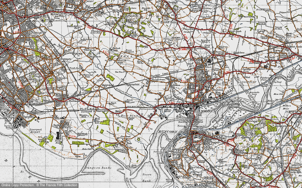 Old Map of Ditton, 1947 in 1947
