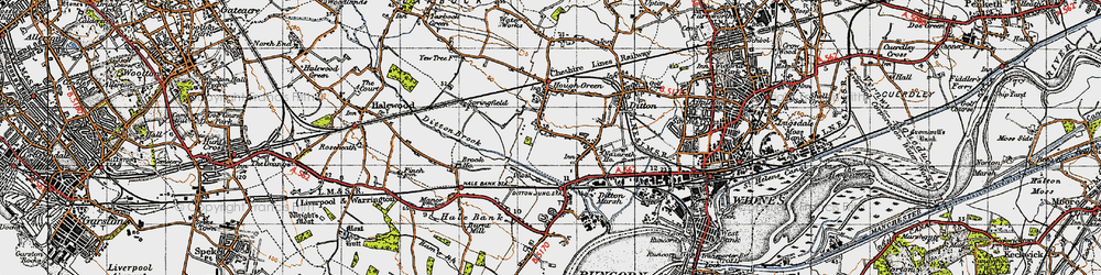 Old map of Ditton in 1947