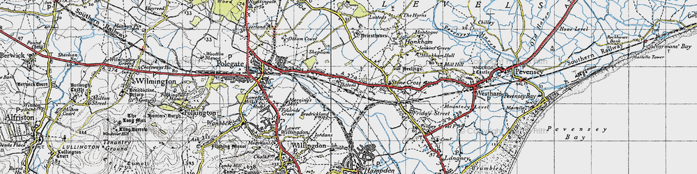 Old map of 1066 Country Walk in 1940