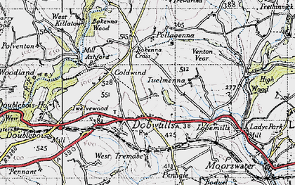 Old map of Dobwalls in 1946
