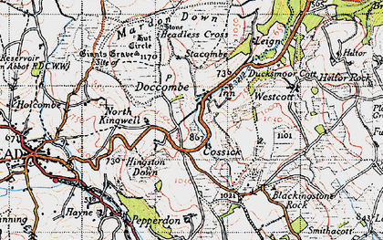 Old map of Wooston in 1946