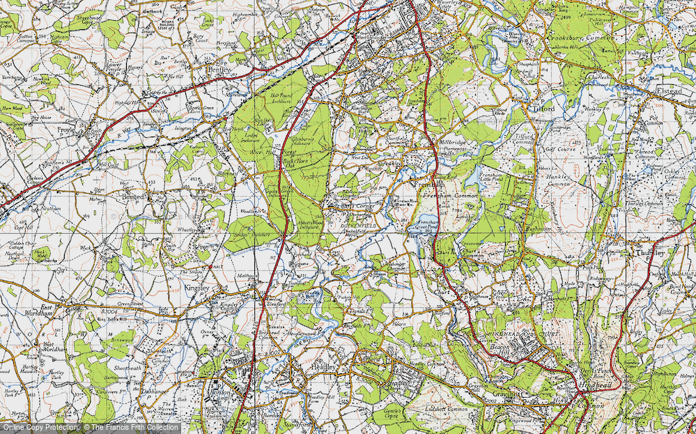 Old Map of Historic Map covering Abbots Wood Inclosure in 1940