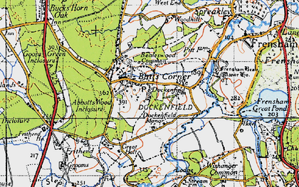 Old map of Abbots Wood Inclosure in 1940