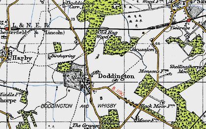 Old map of Doddington in 1947