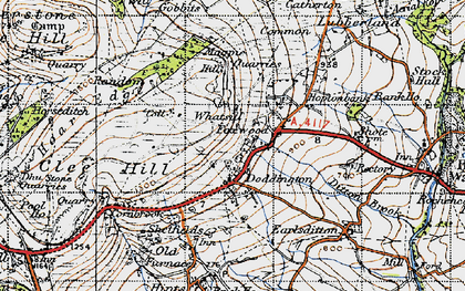 Old map of Clee Hill in 1947