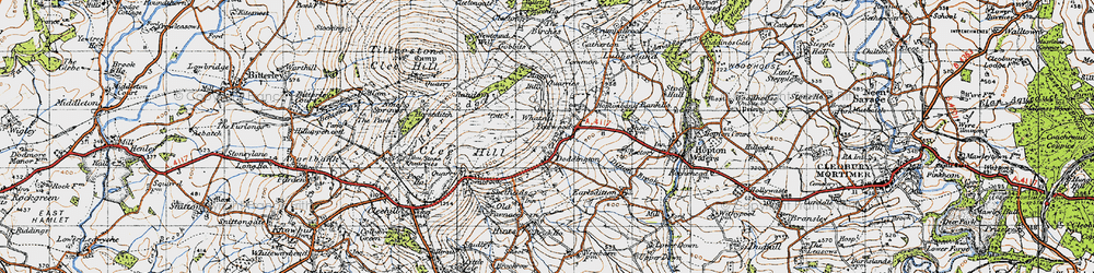 Old map of Whatsill in 1947